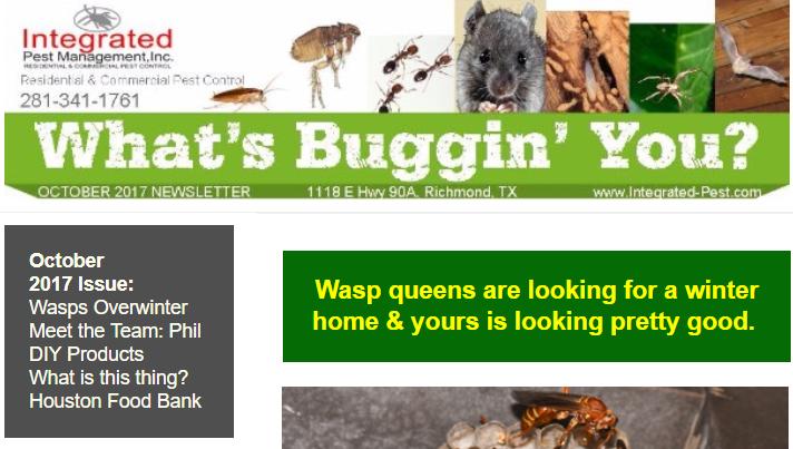 Integrated Pest Management Inc Oct 2017 Newsletter