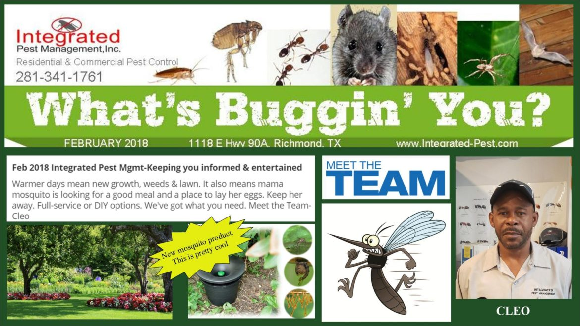 Feb 2018 Integrated Pest Management Newsletter