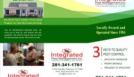 Integrated Pest Management Tri-fold Brochure Outside