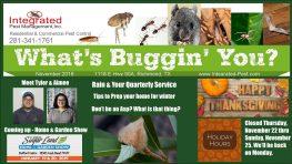 Integrated Pest Management, Inc. Nov 2018 Newsletter